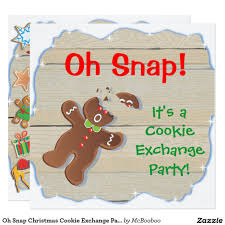 oh snap christmas cookie exchange party invitation christmas
