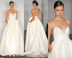 wedding dresses with pockets a line lace wedding dresses pocket spaghetti neck backless