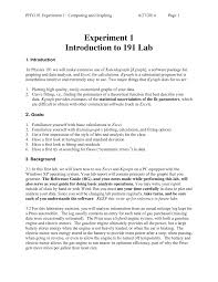practical experiment 1 7 phy 191 physics lab for scientists i
