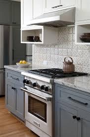Gray And White Kitchen Cabinet Ideas Kitchen With Gray Lower - Gray and white kitchen cabinets