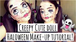 creepy cute doll halloween makeup tutorial heyitsdaisy x youtube