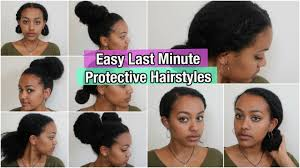 Quick And Easy Hairstyles For Medium Length Hair 5 Quick U0026 Easy Protective Hairstyles On Natural Hair Thick