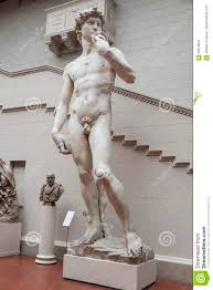 sculpture copy of david by michelangelo buonarroti editorial stock