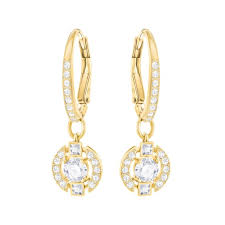 earrings uk swarovski sparkling earrings gold and diamond