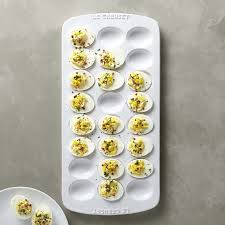 white deviled egg plate le creuset deviled egg tray williams sonoma