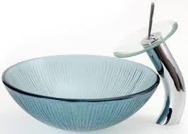blue glass vessel sink dreamline dlbg 12b round glass vessel sink tempered glass material
