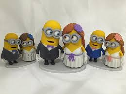minions cake toppers minion wedding cake topper groom by manuelpoehlau