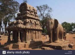 nakul sahadeva ratha elephant statue pancha rathas carved king