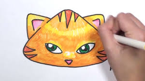 how to draw a cartoon cat face mlt youtube