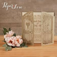 gold intricate personalised wedding invitations gate fold u2013 paper