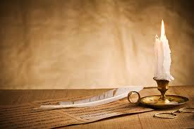 Quill Desk Lamp Writing Quill Pen Desk Candle Pictures Images And Stock Photos