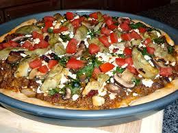 Mediterranean Style Food - mediterranean style pizza recipe