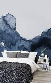 Blue Accent Wall Bedroom by Best 25 Watercolor Walls Ideas Only On Pinterest Indigo Walls