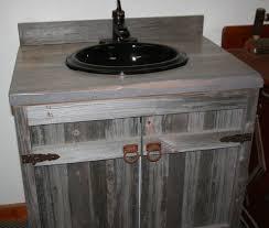 Bathroom Vanity Reclaimed Wood Weathered Gray Reclaimed Wood Bathroom Vanity