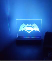 Light Project Diy Led Light Project Batman V Superman 2016 Engraved Perspex