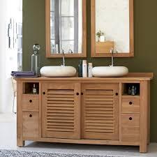 meuble cuisine teck meuble salle bain teck pas cher avec cuisine sous vasque suspendu en