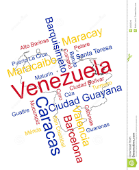 Venezuela Map Venezuela Map And Cities Stock Vector Illustration Of Venezuela
