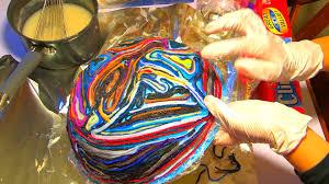 yarn scrap bowl art project tutorial youtube