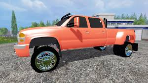 lifted gmc red sierra 3500 lifted for farming simulator 2015