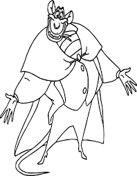 the great mouse detective ratigan cartoon coloring pages