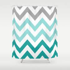 Green Chevron Shower Curtain Best Teal Chevron Shower Curtain Products On Wanelo