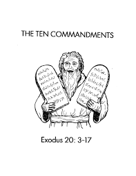fantastic ten commandments coloring pages alphabrainsz net