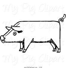margarita outline royalty free stock pig designs of barnyard animals page 2