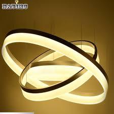 Led Pendant Light Fixtures Modern Two Rings Led Pendant Light Arcylic Led Ring Suspension