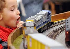 the tradition of model trains beneath the christmas tree may have