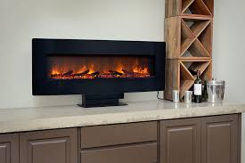 Wall Mounted Electric Fireplace Classicflame 48 In Curved Black Wall Mount Electric Fireplace