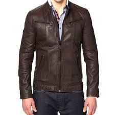 buy biker jacket buy designer brown leather jackets for men online in india