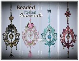 beaded papercraft ornaments by qrafty one cards and paper crafts