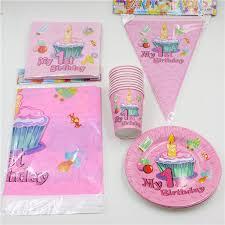 1st birthday party favors 62pcs lot decoration tablecloth boys kids favors napkins 1st
