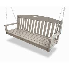 shop trex outdoor furniture yacht club sand castle porch swing at
