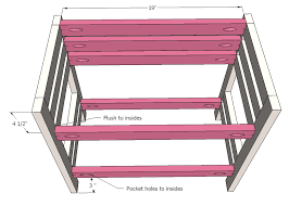 Plans For Building Built In Bunk Beds by Ana White Doll Bunk Beds For American Doll And 18