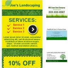 Lawncare Business Cards Landscaping Business Cards Lawn Care Business Landscaping