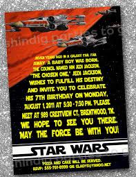 Birthday Party Cards Invitations Star Wars Birthday Invitations Templates Free Star Wars Bday