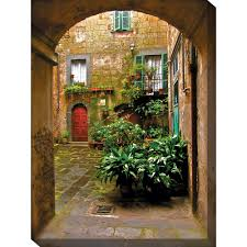 italian courtyard outdoor wall art piece by west of the wind ou