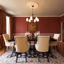red dining room home living room ideas