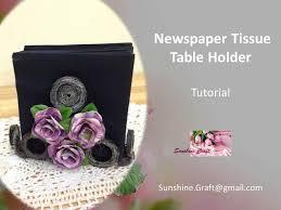 napkin holder ideas d i y newspaper napkins holder tutorial