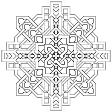 free printable geometric coloring vintage free geometric coloring