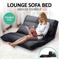 Double Chaise Sofa Lounge by Lounge Sofa Bed Double Size Floor Recliner Folding Chaise Chair