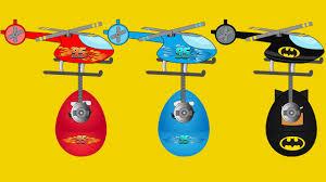 lightning mcqueen monster truck videos helicopters and toys surprise eggs lightning mcqueen monster