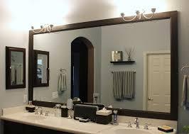 bathroom ideas for framing a mirror in the bathroom elegant