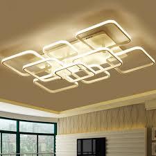 Diy Led Chandelier Modern Creative Diy Led Chandelier Lights Aluminum Rectangle