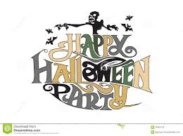 halloween graphics free word a happy halloween party stock vector image 58650156