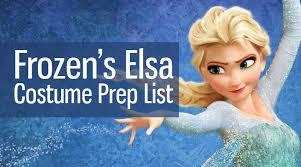 Elsa Costume Elsa From Frozen Costume Prep List Sewing Parts Online