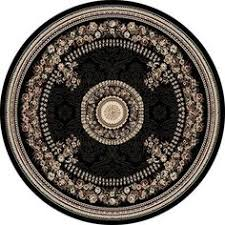 Black Round Rug 1062 Red Black 6 U00275x6 U00275 Foot Round Area Rugs Carpet Modern Abstract