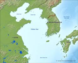 Where Is China On The Map by Yellow Sea Map U2013 Eeov