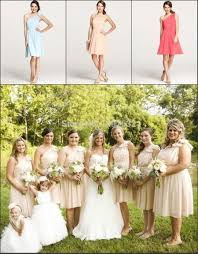 online get cheap country knee length chiffon bridesmaid dresses